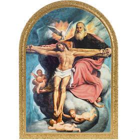 Druckbild auf Holz Allerheiligste Trinität De Sacchis 15x11 cm s1