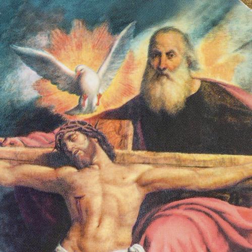 Holy Trinity De Sacchis print on wood 15x11 2