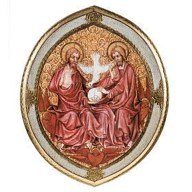 STOCK Stampa legno SS. Trinità ovale Anno della Fede 28x24 s1