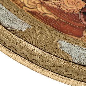 STOCK Stampa legno SS. Trinità ovale Anno della Fede 28x24 s4