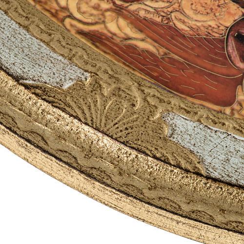 STOCK Stampa legno SS. Trinità ovale Anno della Fede 28x24 4