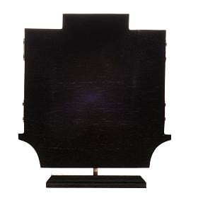 Trittico altare di Issenheim legno stampa 21x30 con base s8