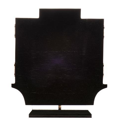 Trittico altare di Issenheim legno stampa 21x30 con base 8