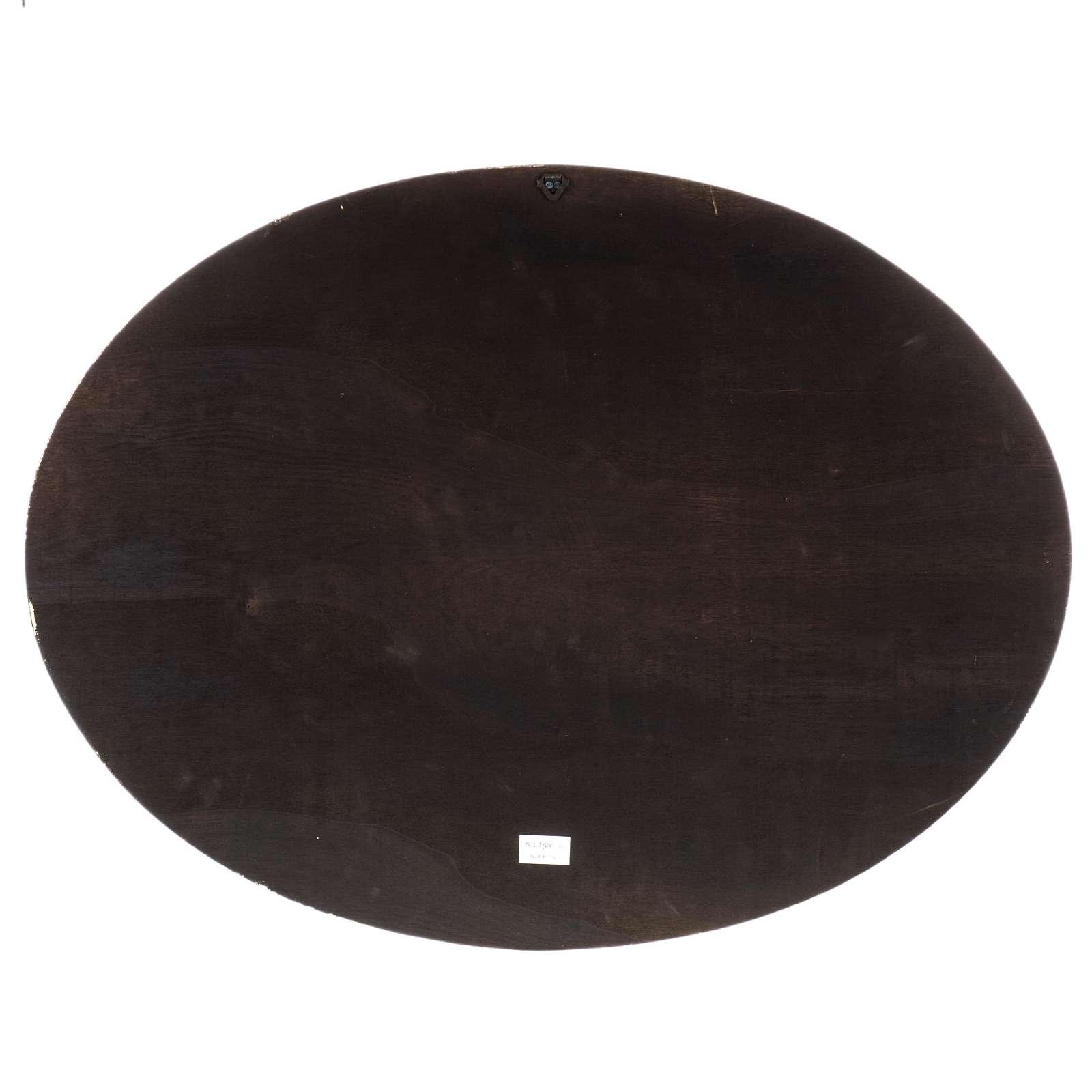 Natività stampa su legno ovale 60x80 cm 3