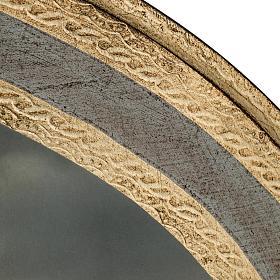 Natività stampa su legno ovale 60x80 cm s5
