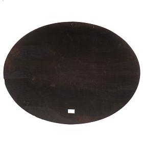 Natività stampa su legno ovale 60x80 cm s7