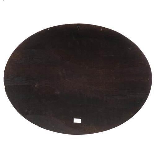 Natività stampa su legno ovale 60x80 cm 7