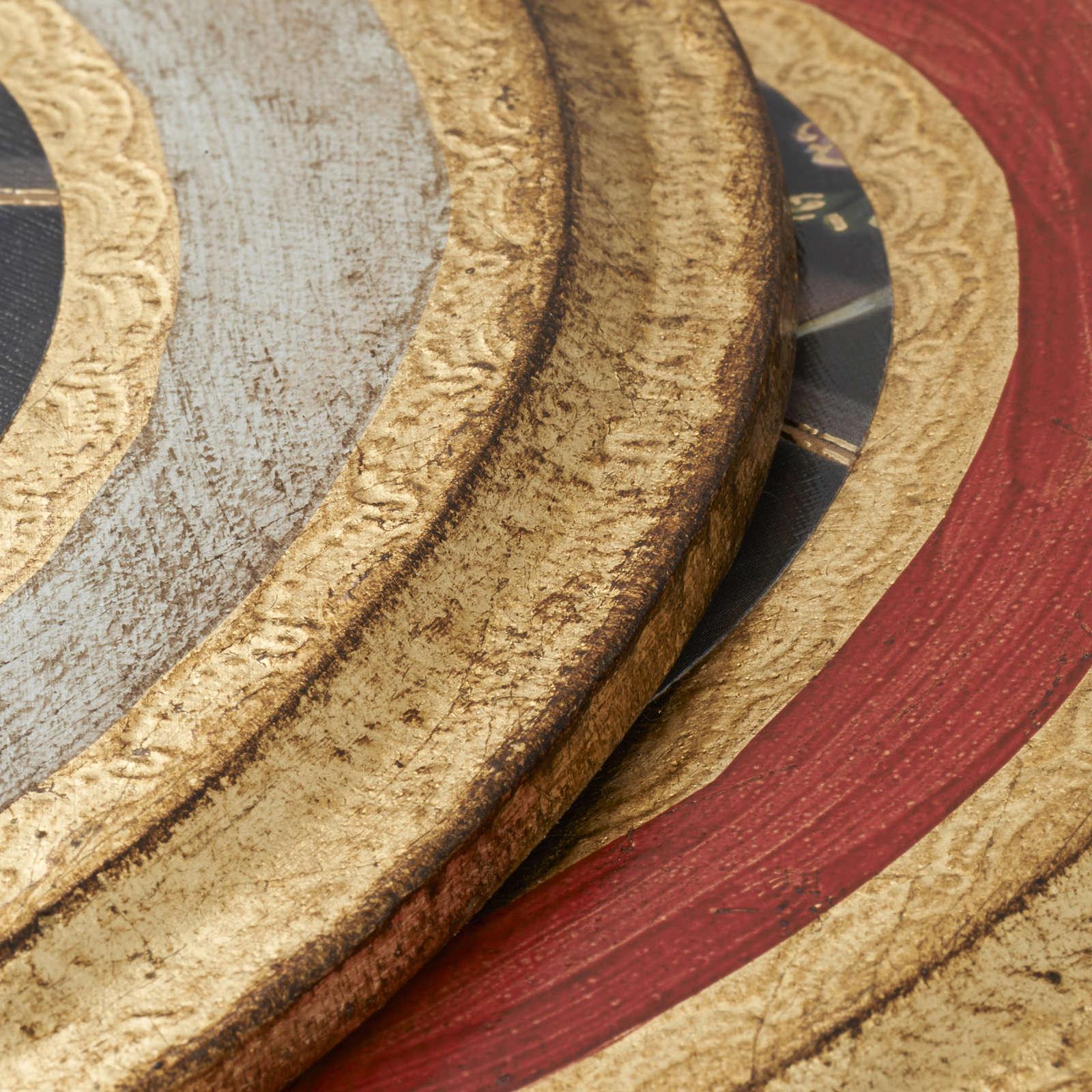 Quadro Santa Rita stampa su legno tondo 3