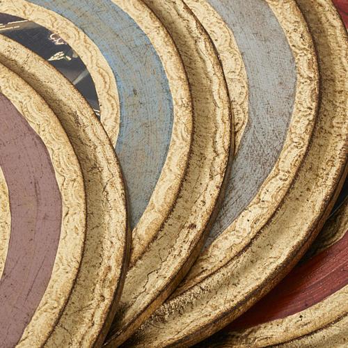 Quadro Santa Rita stampa su legno tondo 7