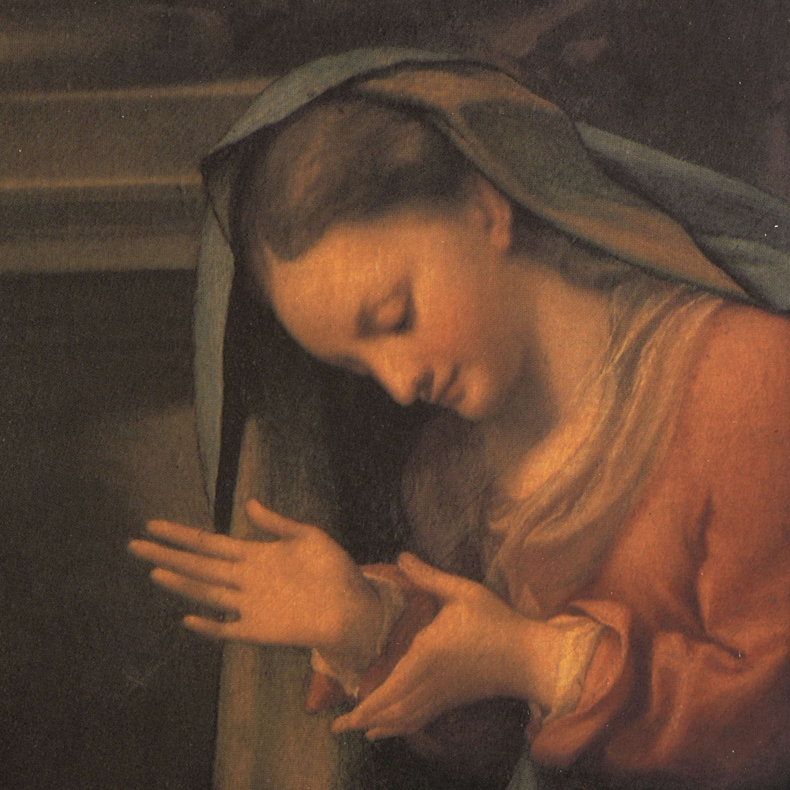 Correggio's Nativity print on wood 3