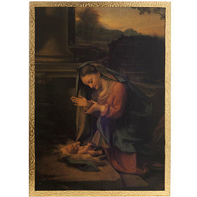 Correggio's Nativity print on wood s1