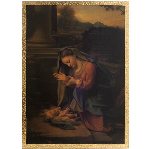 Correggio's Nativity print on wood 1