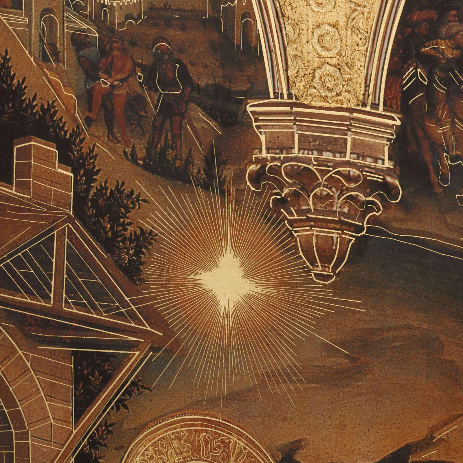Quadro Adorazione dei Magi stampa legno 49x68 3