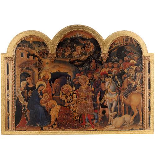 Quadro Adorazione dei Magi stampa legno 49x68 1