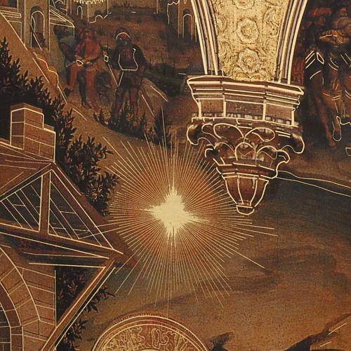 Quadro Adorazione dei Magi stampa legno 49x68 5