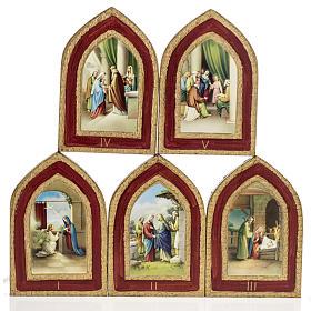 Stampa su legno Misteri Gaudiosi 5 quadri s1