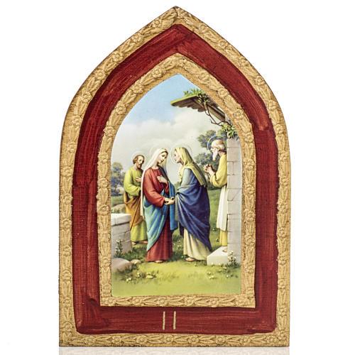 Stampa su legno Misteri Gaudiosi 5 quadri 3