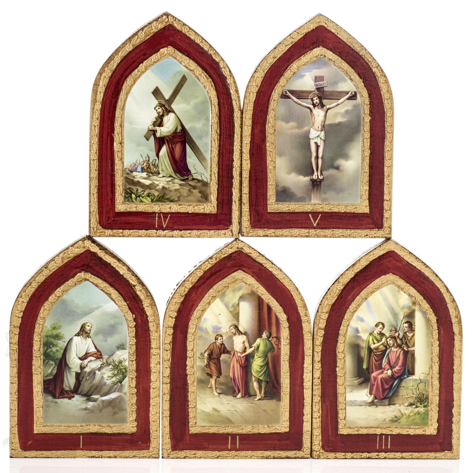 Estampa sobre madera Misterios Dolorosos 5 cuadros | venta online en ...