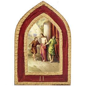 Mystères Douloureux 5 tableaux impression sur bois s3