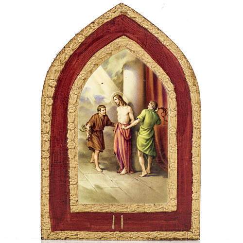 Stampa su legno Misteri Dolorosi 5 quadri 3