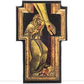 Tableaux, gravures, manuscrit enluminé: Croix Saint François