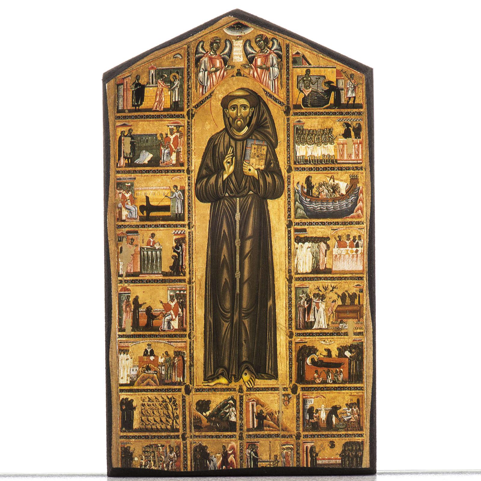 Stampa su legno San Francesco 3