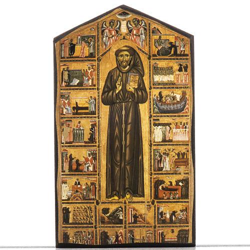 Stampa su legno San Francesco 1