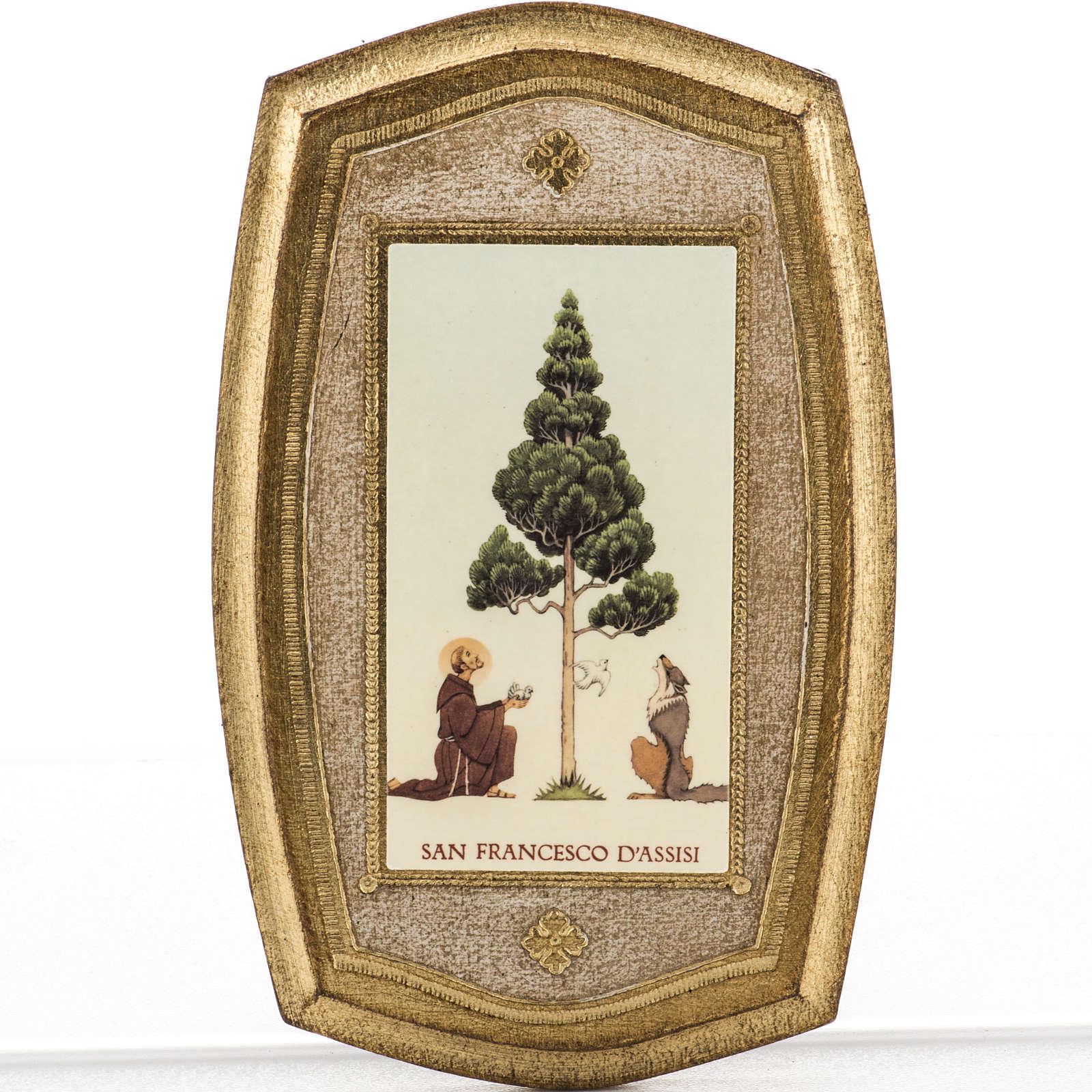 Stampa su legno San Francesco e lupo 3