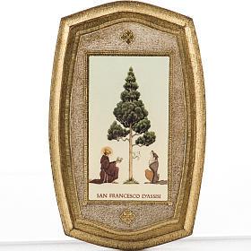 Stampa su legno San Francesco e lupo s1