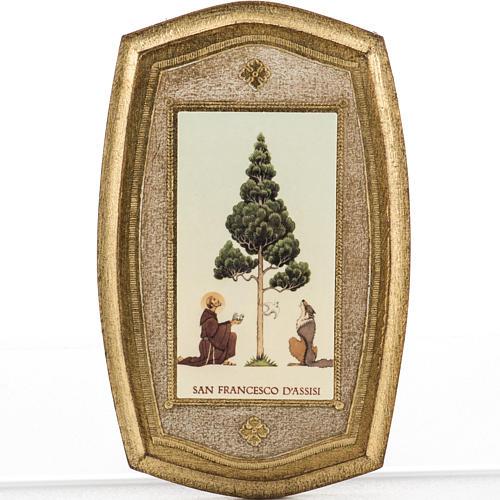 Stampa su legno San Francesco e lupo 1