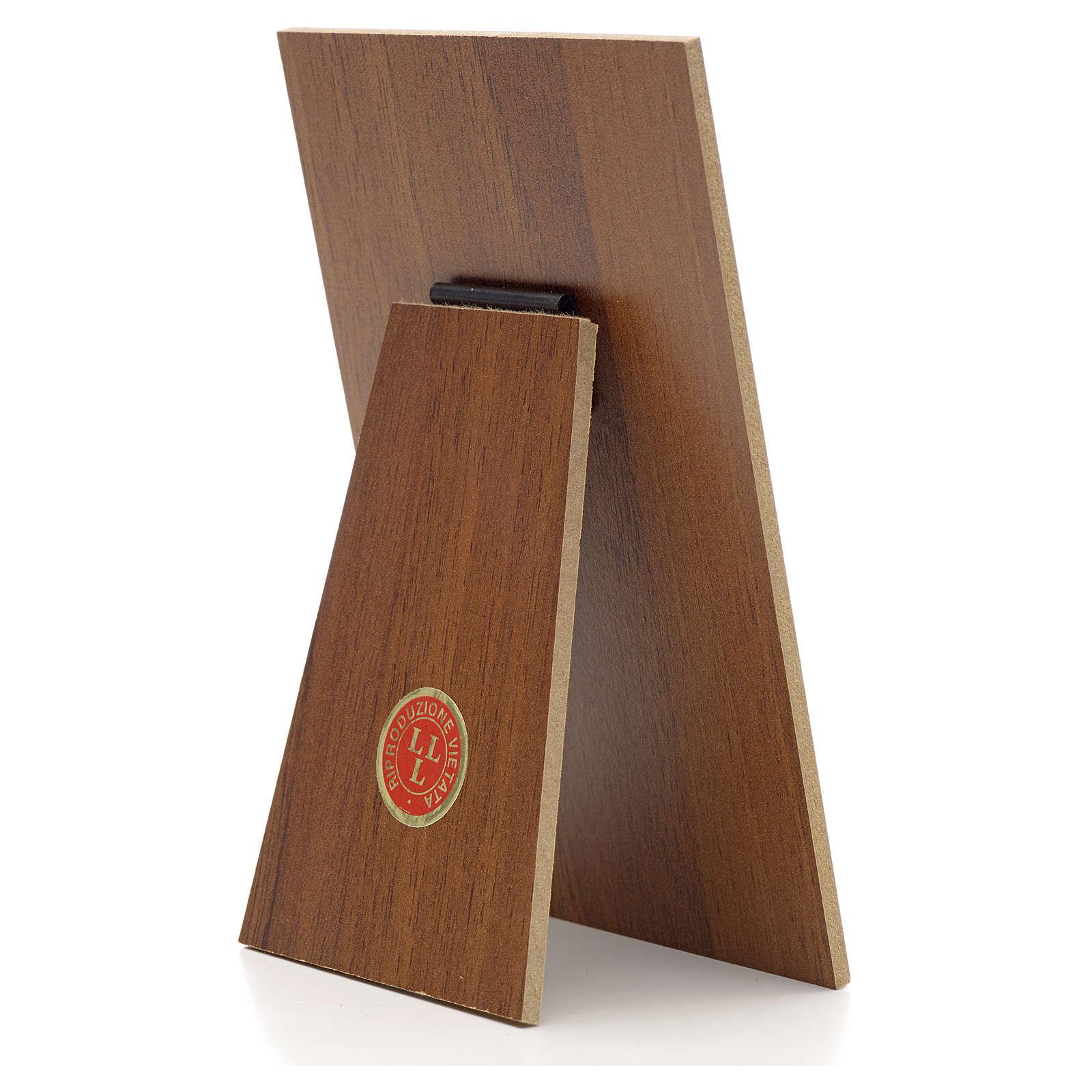 Quadretto Papa Francesco resina su legno Landi 3