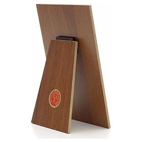 Quadretto Papa Francesco resina su legno Landi s2