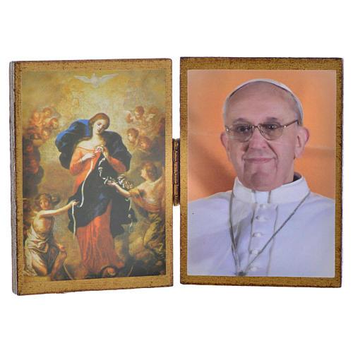 Díptico Papa Francisco - Virgen Desatanudos 1