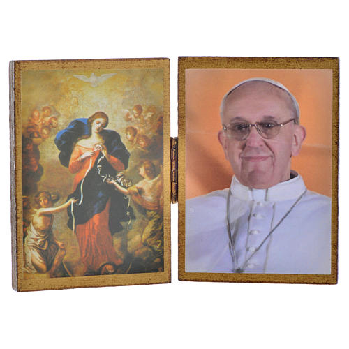 Diptych with Pope Francis and Mary Untier of Knots 1