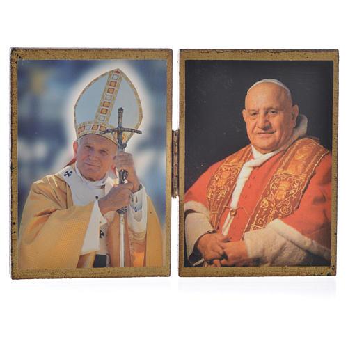 Diptyque Papes Jean Paul II et Jean XXIII 1