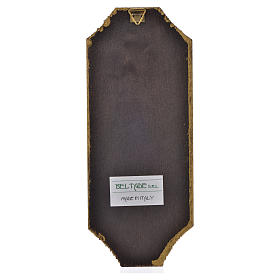 Divine Mercy print on wood 18.5x7.5 cm s2