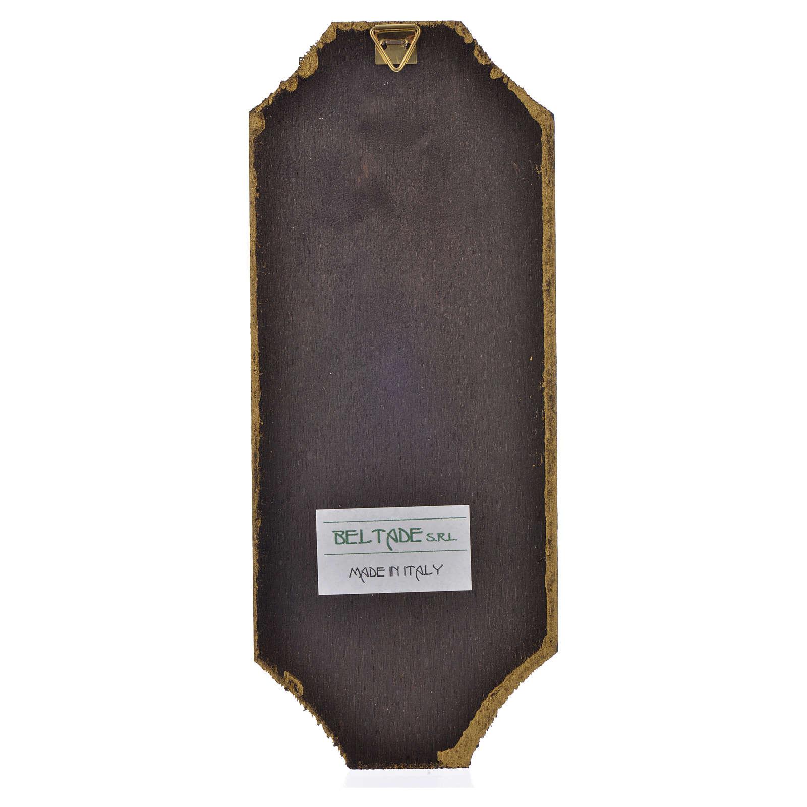 Divine Mercy print on wood 18.5x7.5 cm 3