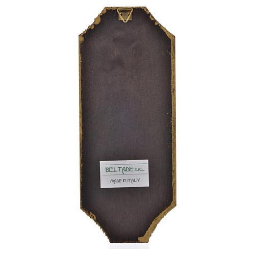 Divine Mercy print on wood 18.5x7.5 cm 2