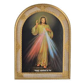 Image Divine Miséricorde imprimée sur bois 40x30cm s1