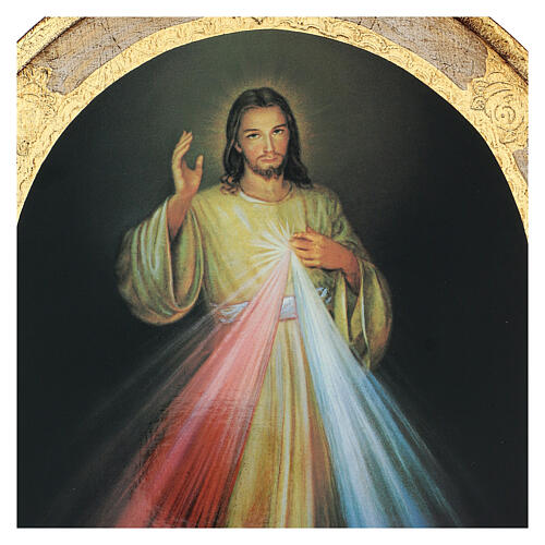 Image Divine Miséricorde imprimée sur bois 40x30cm 2