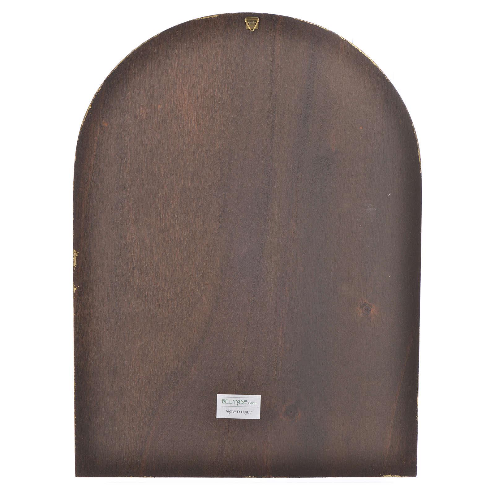 Druk na drewnie logo Jubuileusz Miłosierdzia 40 X 30 3
