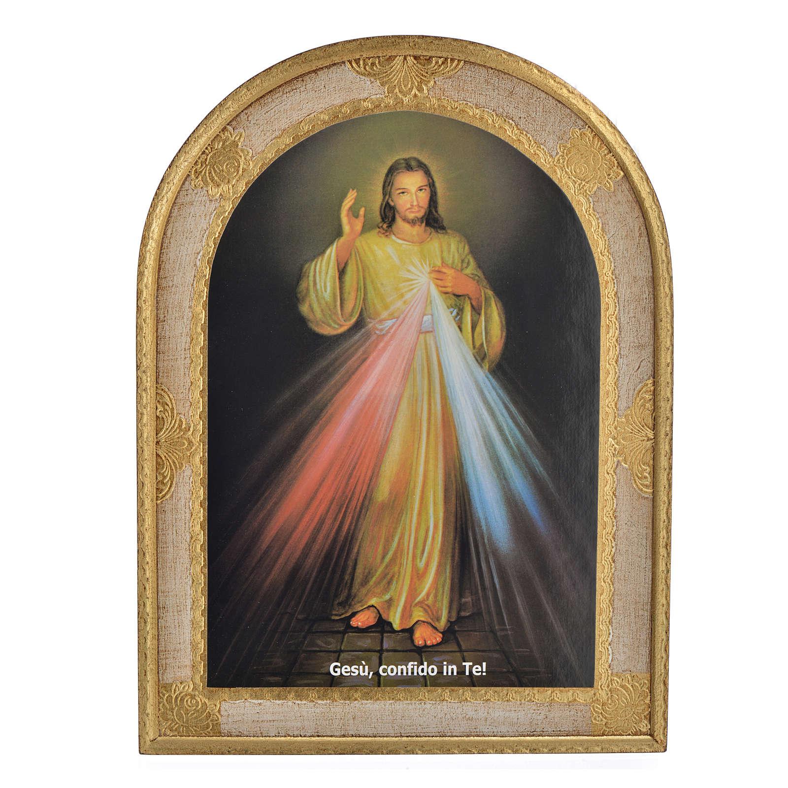 Divine Mercy print on wood 40x30 cm 3