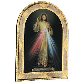 Divine Mercy print on wood 40x30 cm s3