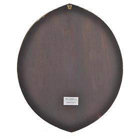 Cuadro circular Papa Francisco 33,5x27,5 cm s2