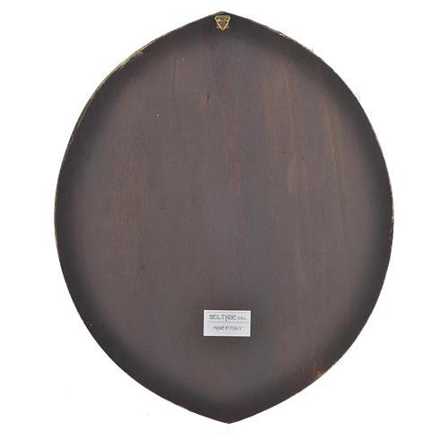 Cuadro circular Papa Francisco 33,5x27,5 cm 2
