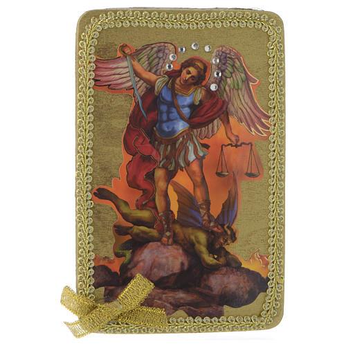 Obraz święty Michał drewno 1