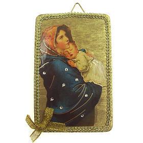 Tableaux, gravures, manuscrit enluminé: Image Vierge du Ferruzzi en bois