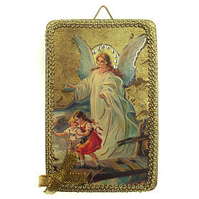 Paintings, printings, illuminated manuscripts: Guardian Angel image in wood