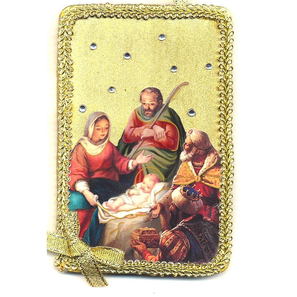 Image Sainte Famille adoration des Mages bois 3