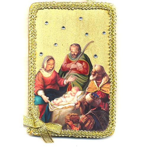 Image Sainte Famille adoration des Mages bois 1